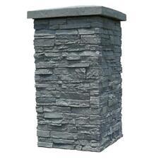 NextStone Polyurethane Faux Stone Column Wrap - Slatestone Rocky Mountain Graphi