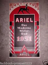 ARIEL 1931 PROSPEKT LB31 VB 31 SB 31 4F31 SG31 VF31 MOTORRAD OLDTIMER