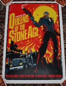 QUEENS OF THE STONE AGE concert gig tour poster 4-1-08 MELBOURNE 2008 Ken Taylor