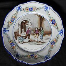 G'] Belle assiette ST-CLEMENT KG ancienne (décor révolutionnaire)