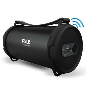 Pyle PBMSPG7 60 Watt Portable Bluetooth Wireless BoomBox Speaker Stereo, Black