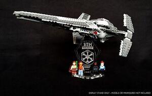 Display stand 3D angled +slots for Lego 7961/75096 Darth Maul's Sith Interceptor