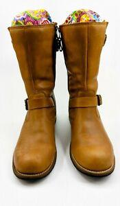 Brown waterproof leather Kodiak riding boots women's size 10