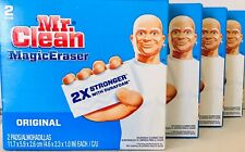 4 Boxes Mr Clean MagicEraser Original 2X Stronger With Durafoam 2 Count Pads