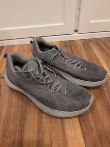 Hoka One One Mens Hupana EM 1099736 FGLR Gray Running Shoes Size 13 Free Ship