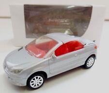 """Peugeot 206 CC Gris 1/64 """"3 Inche"""" Diecast NOREV Produit NEUF !!"""