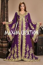 DUBAI VERY FANCY KAFTANS abaya jalabiya Ladies Maxi Dress New Wedding gown 4458