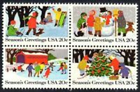 United States 2027-30 Christmas Winter Scene MNH Block