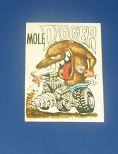 VINTAGE ODD RODS STICKER #60 MOLE DIGGER IN EXCELLENT CONDITION