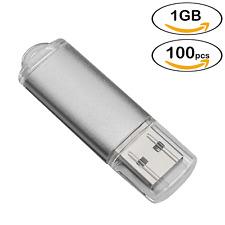 100 Lots 1GB USB 2.0 Flash Drive Rectangle Thumb Pen Drive Memory Sticks Storage