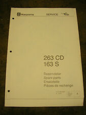 Husqvarna 263CD and 163S chainsaw dealer parts list 1975