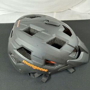 Mongoose Capture Adult Bike Helmet with Go Pro Camera Mount Black and Orange