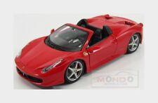 Ferrari 458 Italia Spider 2011 Red Burago 1:24 BU26017R