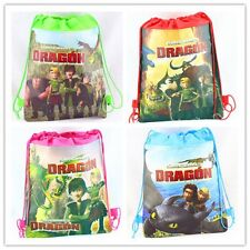 Set of 4 Dragon Drawstring Backpack School Bags ,Party Favors-Random Designs