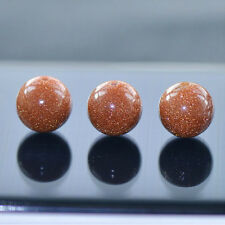 Semi Precious Natural Gold Sand Stone Round Beads For Jewellery Making 4-12mm