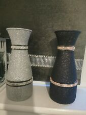 Silver Shimmer  Diamonte Vase