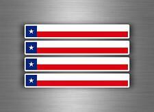 4x Autocollant sticker voiture moto stripes drapeau tuning brassard texas usa