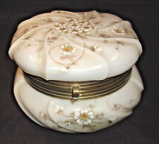 Wave Crest C.F. Monroe opal glass Helmscmied swirl Hand Enameled Kelva/Nakara