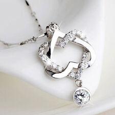 Herz Figarokette Halskette Kettenanhänger Hochzeit Damen Mode Schmuck 45cm