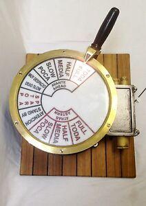 Brass Engine Order Ship Telegraph