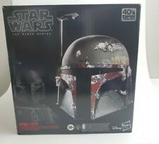 New Star Wars The Black Series Boba Fett Premium Electronic Helmet In hand