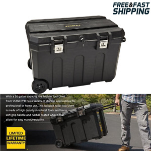 Horse Tack Trunk Box Large Rolling 50 Gallon Capacity Riding Gear Storage