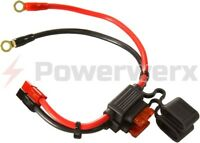 Powerwerx ATC Style Fuse Holder 10 GA with Ring Terminals and Powerpole Conn.