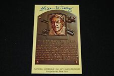 Bill Dickey NY Yankees Signed Yellow HOF Plaque Postcard-NM