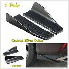 Universal Carbon Fiber ABS Car Rear Bumper Spoiler Chin Lip Splitter Body Kit