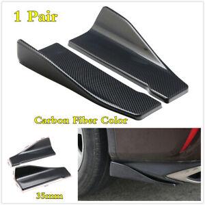 Universal Carbon Fiber ABS Car Rear Bumper Spoiler Chin Lip Splitter Body Kit