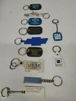 Lot Of 8 Vintage Chevy GM Dealership Keychains