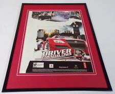 Driver Parallel Lines 2006 XBox PS2 Framed 11x14 ORIGINAL Vintage Advertisement