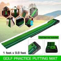 Indoor Golf Putter Trainer Set Golf Practice Putting Mat Golf Green Trainer