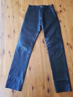 BISONTE Black Leather Pants Size S