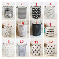 LN_ CO_ Nordic Style Baby Kids Toy Storage Canvas Laundry Basket Organizer Too