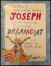 Joseph & The Amazing Technicolour Dreamcoat - HB Book Quentin Blake 1982 VG/NF