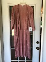 LuLaRoe Shirley Dusty Rose Pink Kimono Coverup M Medium NEW Stretchy Solid