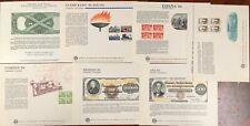 United States BEP B 64,66-69,71,73 Souvenir Cards 1984 Mint