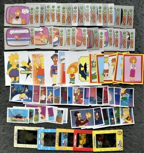 Lot of 80+ Simpsons Stickers Animation Cards Trading Cards from 6 Diff Sets Odds