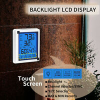LCD Wireless Digital Hygrometer Thermometer Monitor Remote Senso F/ Office T8Y0