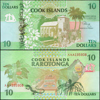 Cookinseln 10 Dollars. UNZ ND (1992) Banknote Kat# P.8a