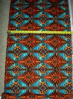 South West Blanket Turquoise 7510 Timeless durable Cotton Fabric