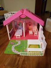 Vintage Barbie Fold 'n Fun House 1992 Mattel Playhouse Nearly Complete Set