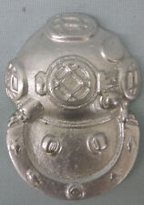 USN US NAVY 2ND CLASS DIVERS INSIGNIA SILVER METAL COLORED DIVING HELMET