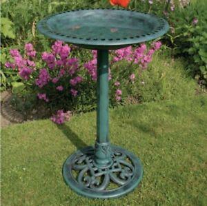 Bird Bath Feeder Bowl, Stone & Aged Wren Garden Bird Lover Gift
