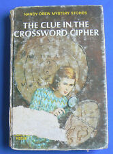 Nancy Drew:#44 The Clue in the Crossword Cipher by Carolyn Keene 1967 Matte HC