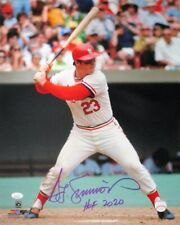 """Cardinals TED SIMMONS Signed 16x20 photo #1 w/ """"HOF 2020"""" AUTO - Brewers - JSA"""