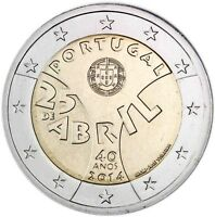 Portugal 2 Euro 2014 Nelkenrevolution in Portugal Gedenkmünze bankfrisch