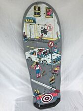 1987 Variflex XP Series Skateboard Deck DOWNTOWN Political Police