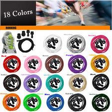Hot 18 Colors Locking Shoe Lacing Elastic Shoelaces Running/Jogging/Triathlon